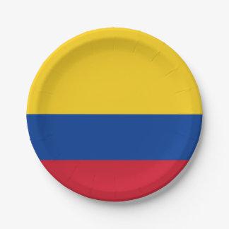 Plato De Papel Placa de papel patriótica con la bandera de