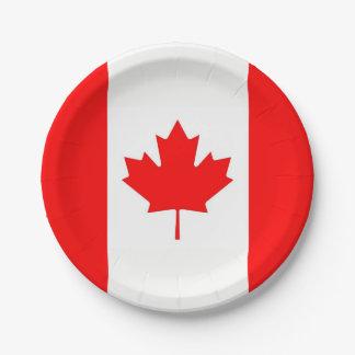 Plato De Papel Placa de papel patriótica con la bandera de Canadá