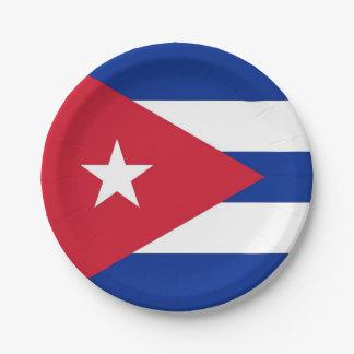 Plato De Papel Placa de papel patriótica con la bandera de Cuba