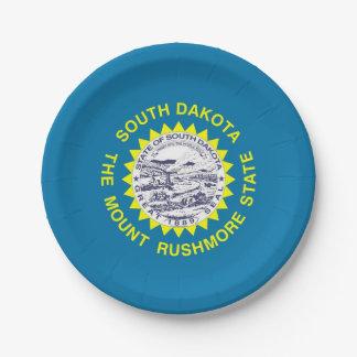 Plato De Papel Placa de papel patriótica con la bandera de Dakota