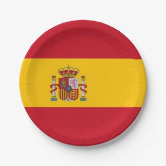Plato De Papel Placa de papel patriótica con la bandera de España