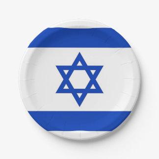 Plato De Papel Placa de papel patriótica con la bandera de Israel