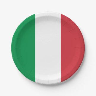 Plato De Papel Placa de papel patriótica con la bandera de Italia
