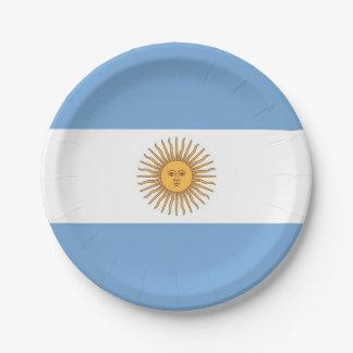 Plato De Papel Placa de papel patriótica con la bandera de la