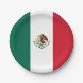 Plato De Papel Placa de papel patriótica con la bandera de México
