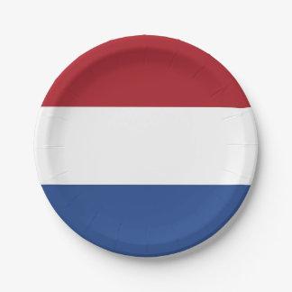 Plato De Papel Placa de papel patriótica con la bandera de Países