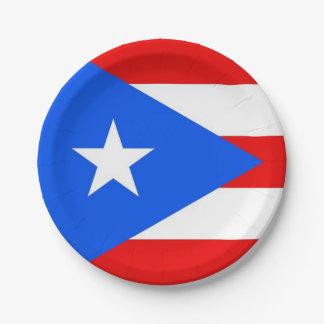 Plato De Papel Placa de papel patriótica con la bandera de Puerto