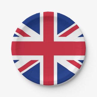 Plato De Papel Placa de papel patriótica con la bandera de Reino
