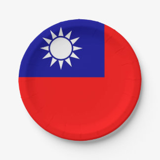 Plato De Papel Placa de papel patriótica con la bandera de Taiwán