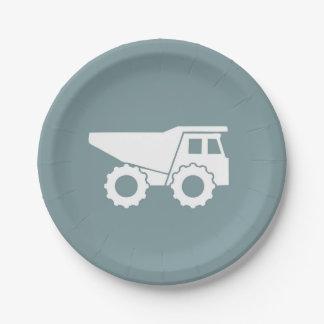 Plato De Papel Placa del camión volquete de las placas de papel