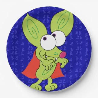 Plato De Papel Placa divertida de Halloween Drácula de la