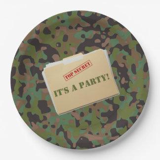 Plato De Papel Placas de cena del papel del fiesta del camuflaje
