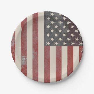 Plato De Papel Placas de papel americana del vintage de las