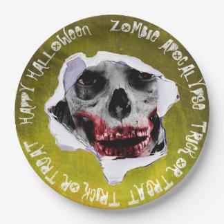 Plato De Papel Placas de papel asustadizas de Halloween de la