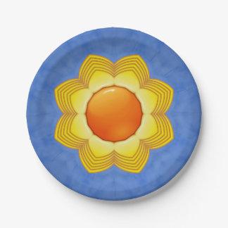 Plato De Papel Placas de papel coloridas del día soleado 2