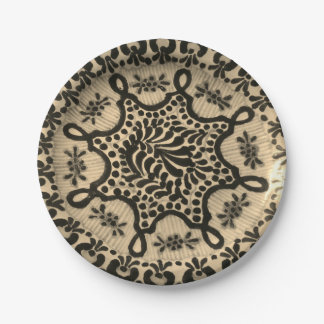 Plato De Papel Placas de papel con imagen de la cerámica de la