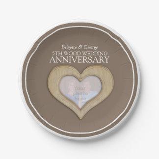 Plato De Papel Placas de papel de boda del aniversario del