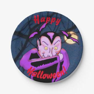 Plato De Papel Placas de papel de Halloween del vampiro