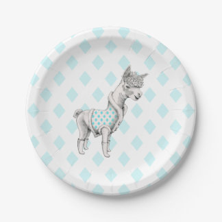 Plato De Papel Placas de papel de la alpaca