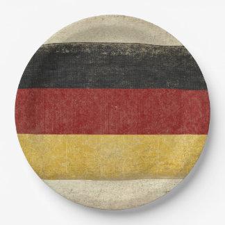 Plato De Papel Placas de papel de la bandera de Alemania