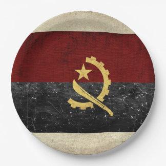Plato De Papel Placas de papel de la bandera de Angola