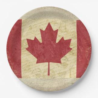Plato De Papel Placas de papel de la bandera de Canadá