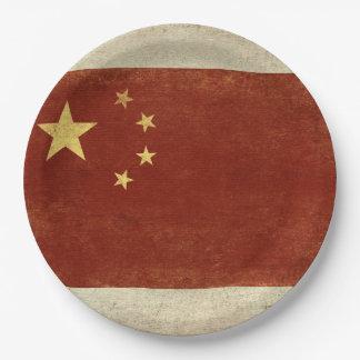 Plato De Papel Placas de papel de la bandera de China