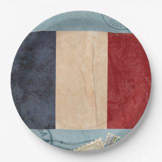 Plato De Papel Placas de papel de la bandera de Francia