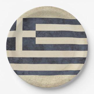 Plato De Papel Placas de papel de la bandera de Grecia