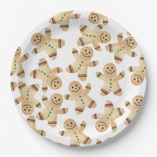 Plato De Papel Placas de papel de la cena de navidad del hombre