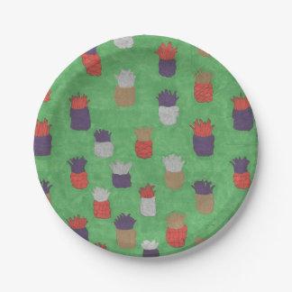 Plato De Papel Placas de papel de la piña tropical de la