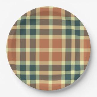 Plato De Papel Placas de papel de la tela escocesa