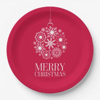 Plato De Papel Placas de papel de las Felices Navidad del