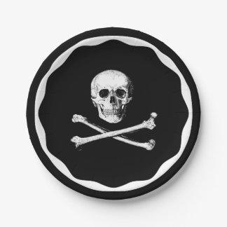 Plato De Papel Placas de papel de los huesos del cráneo y de la