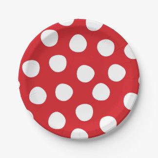 Plato De Papel Placas de papel de los lunares de la fiesta de