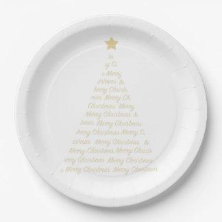 Plato De Papel Placas de papel del árbol de navidad
