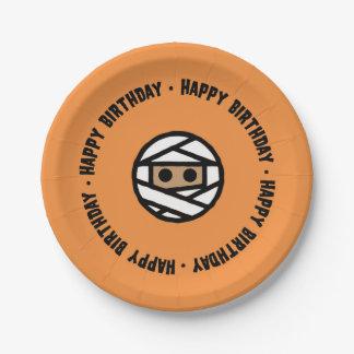 Plato De Papel Placas de papel del cumpleaños de Halloween de la