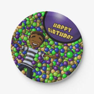 Plato De Papel Placas de papel del cumpleaños de la diversión