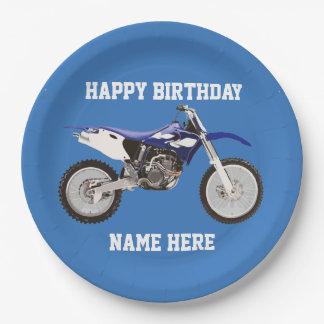 Plato De Papel Placas de papel del deporte azul del cumpleaños de