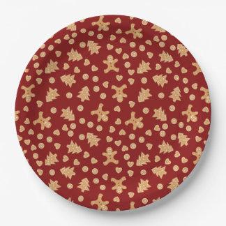 Plato De Papel Placas de papel del día de fiesta de las galletas