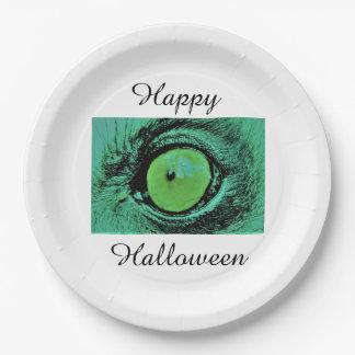 Plato De Papel Placas de papel del feliz Halloween de Jane