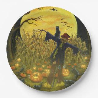 Plato De Papel Placas de papel del fiesta de Halloween,