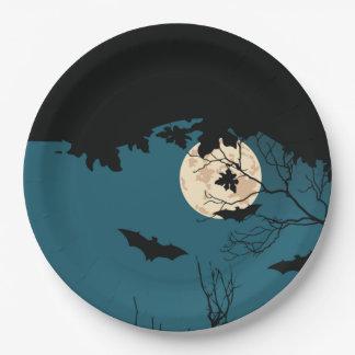 Plato De Papel Placas de papel del fiesta de Halloween de la