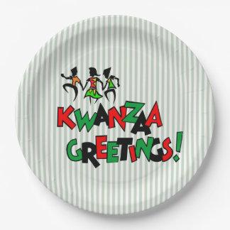Plato De Papel Placas de papel del fiesta de Kwanzaa del golpe de
