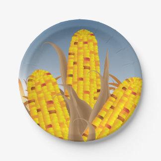 Plato De Papel Placas de papel del maíz