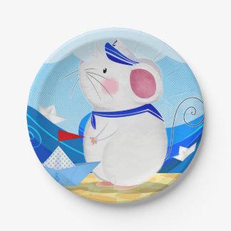 Plato De Papel Placas de papel del marinero del ratón