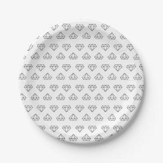 Plato De Papel Placas de papel del modelo del diamante