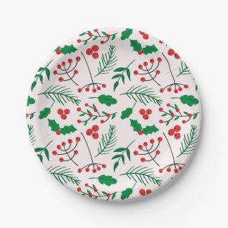 Plato De Papel Placas de papel del navidad - alegría del navidad