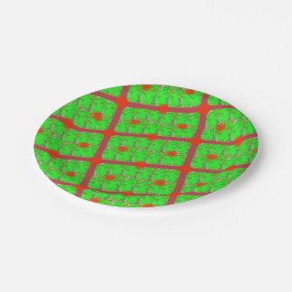 Plato De Papel Placas de papel del navidad iridiscente