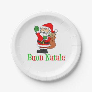 Plato De Papel Placas de papel del navidad italiano de Buon